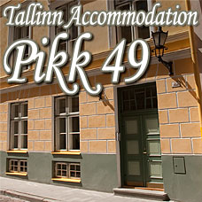 Outside view of Pikk49 apartment accommodation Tallinn