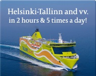 The ferry from Helsinki to Tallinn