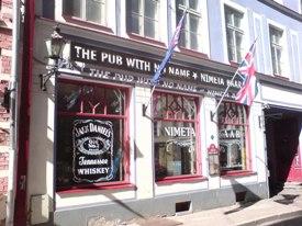 The Nimeta bar is a great place to enjoy Tallinn by night