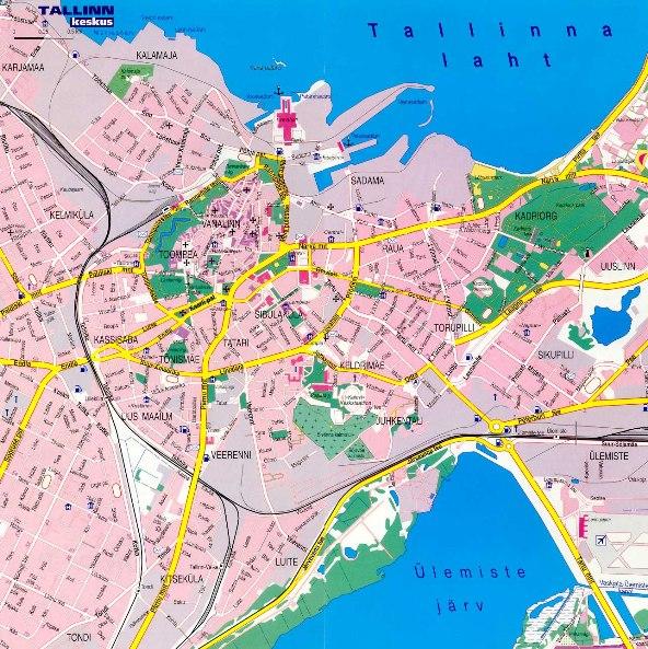Tallinn Map Useful maps of Tallinn Apartment Accommodation Tallinn