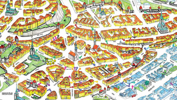 Tallinn Map Useful Maps Of Tallinn Apartment Accommodation Tallinn - Tallinn map