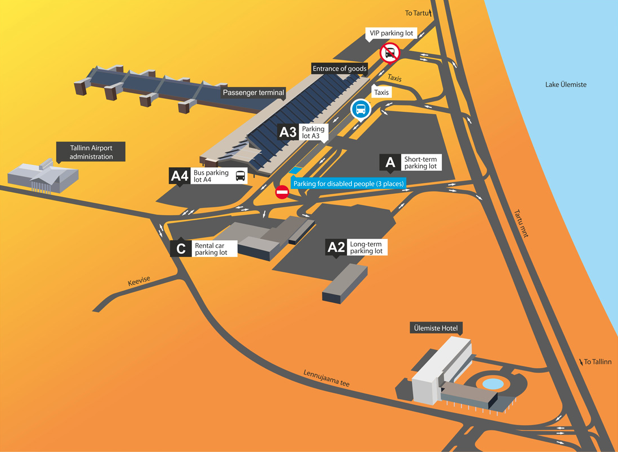 Tallinn Airport Parking Map